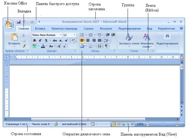 Как сделать панели в программе word